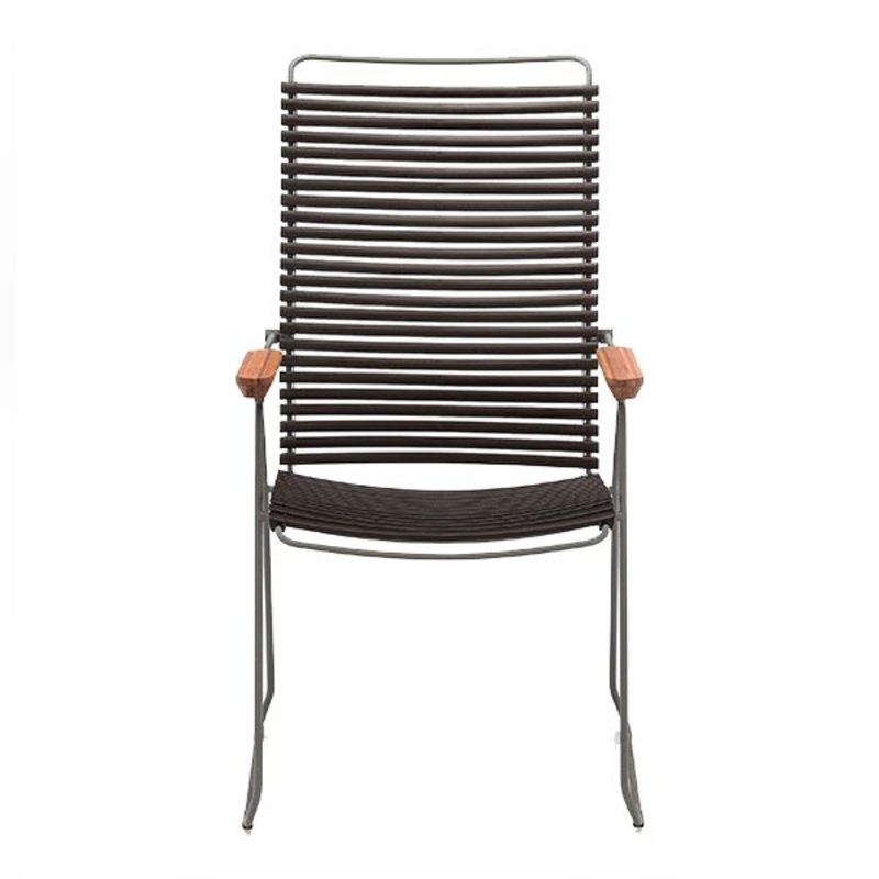 Houe-collectie CLICK Position Chair with armrests in bamboo Black