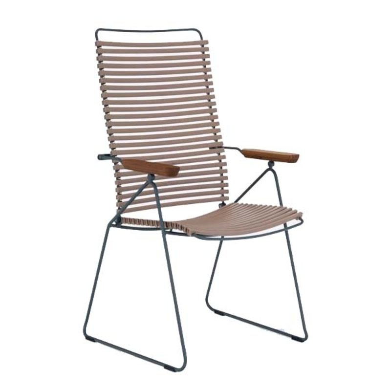 Houe-collectie CLICK Position Chair with armrests in bamboo Sand