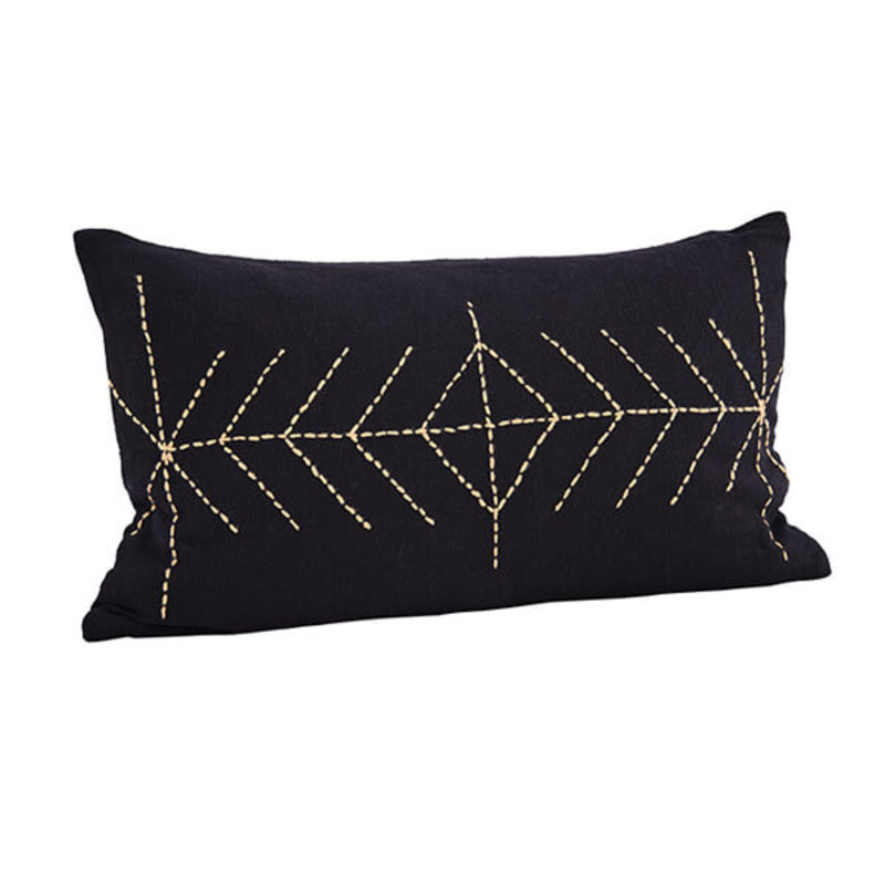 Madam Stoltz-collectie Embroidered cushion cover with tassels - Copy