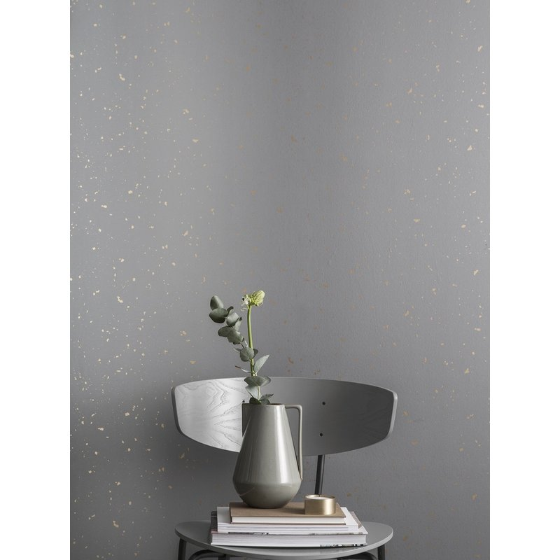 ferm LIVING-collectie Confetti behang - grijs