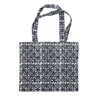 Madam Stoltz Printed tote bag Blue, light stone