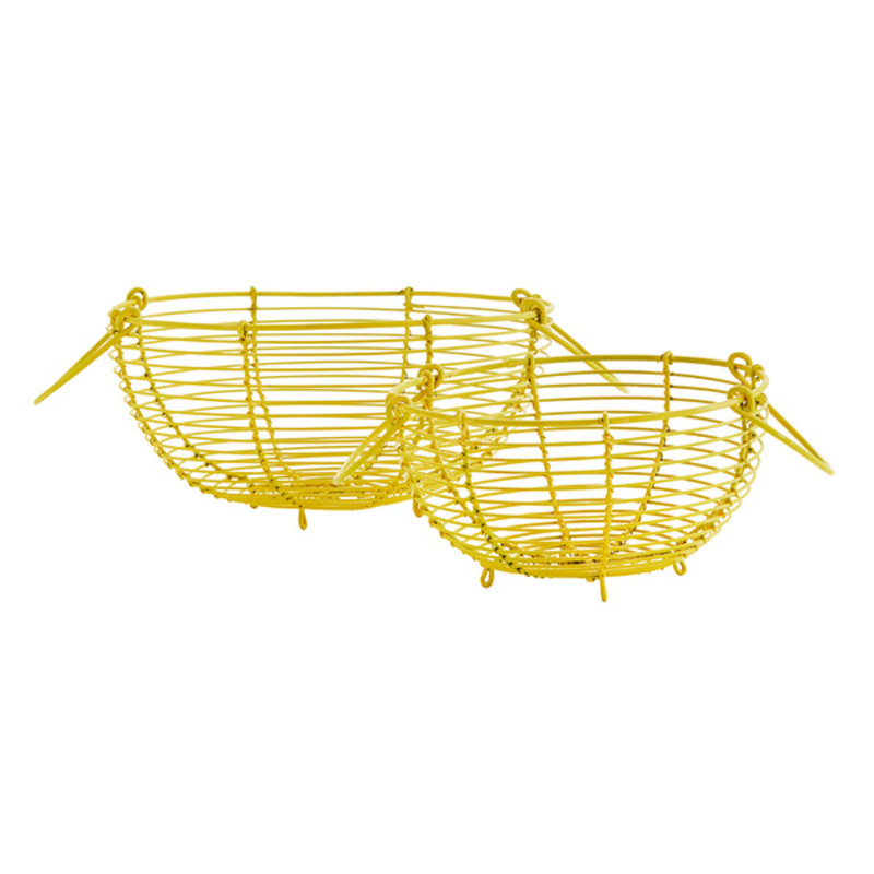 Madam Stoltz-collectie Wire baskets w/ handles