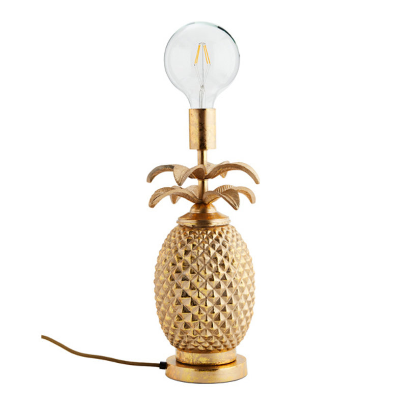 Madam Stoltz-collectie Ananas lamp goud