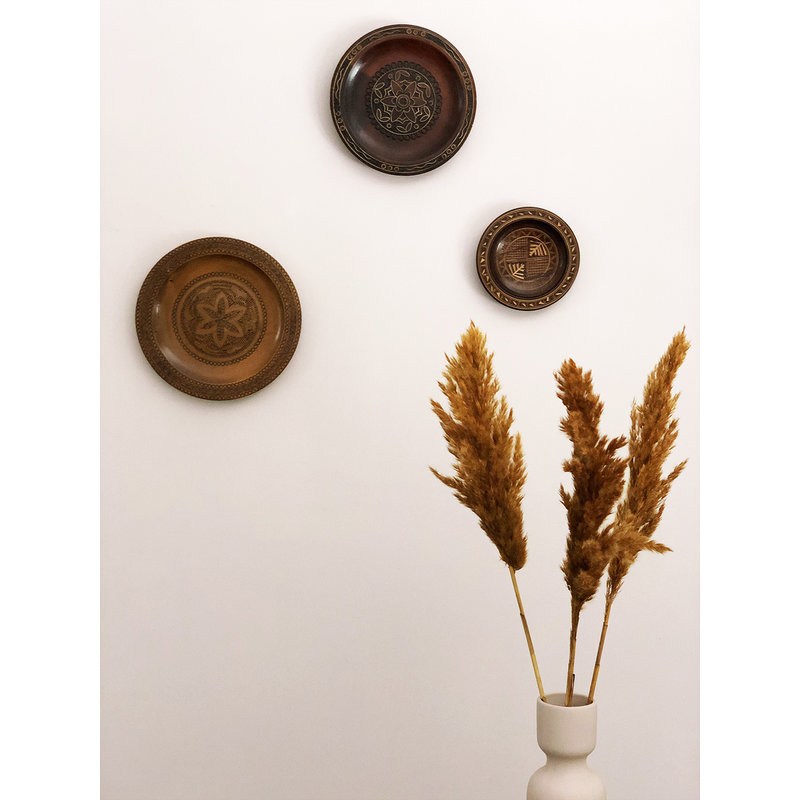 DEENS LOVES-collectie Vintage wooden plate  with woodcut