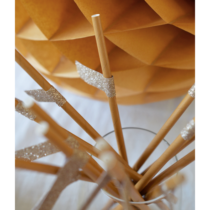 Delight Department-collection Ochre straws with gold stickers  - Copy