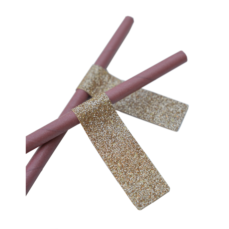 Delight Department-collection Dusty pink straws with gold stickers