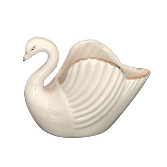 DEENS LOVES Vintage swan in white ceramic