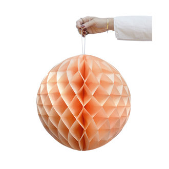 Delight Department-collection Peach honeycomb ball - set of 2