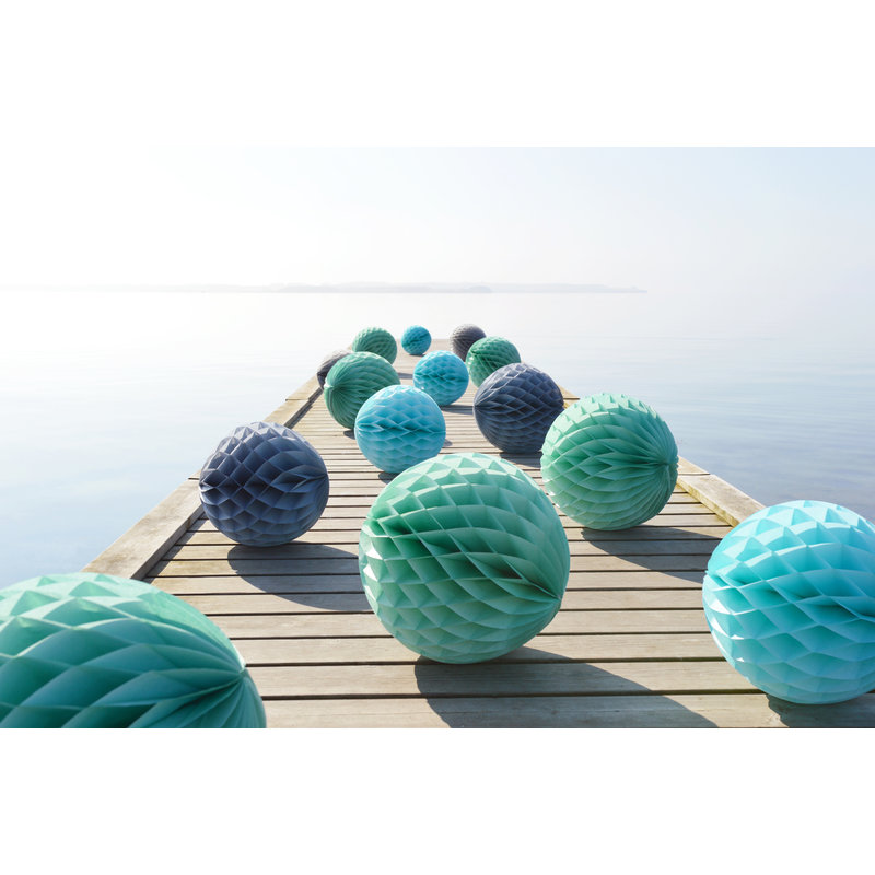 Delight Department-collection Green honeycomb ball - set of 2
