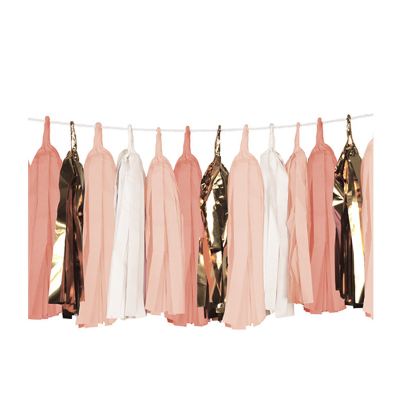 Delight Department-collection Tassels peach, wit en goud