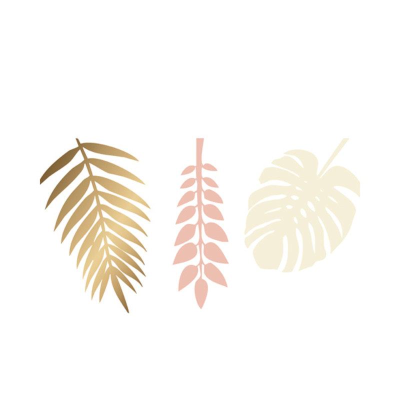 Delight Department-collection Decoration gold, peach and offwhite leaves