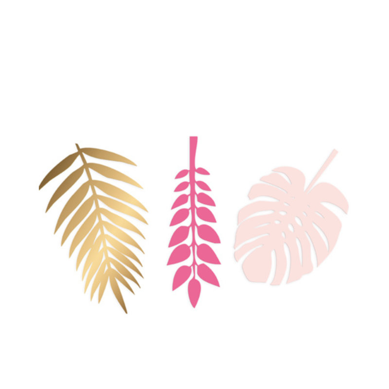 Delight Department-collection Decoration gold, pink and lightpink leaves