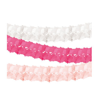 Delight Department-collection Pink honeycomb tissue garland