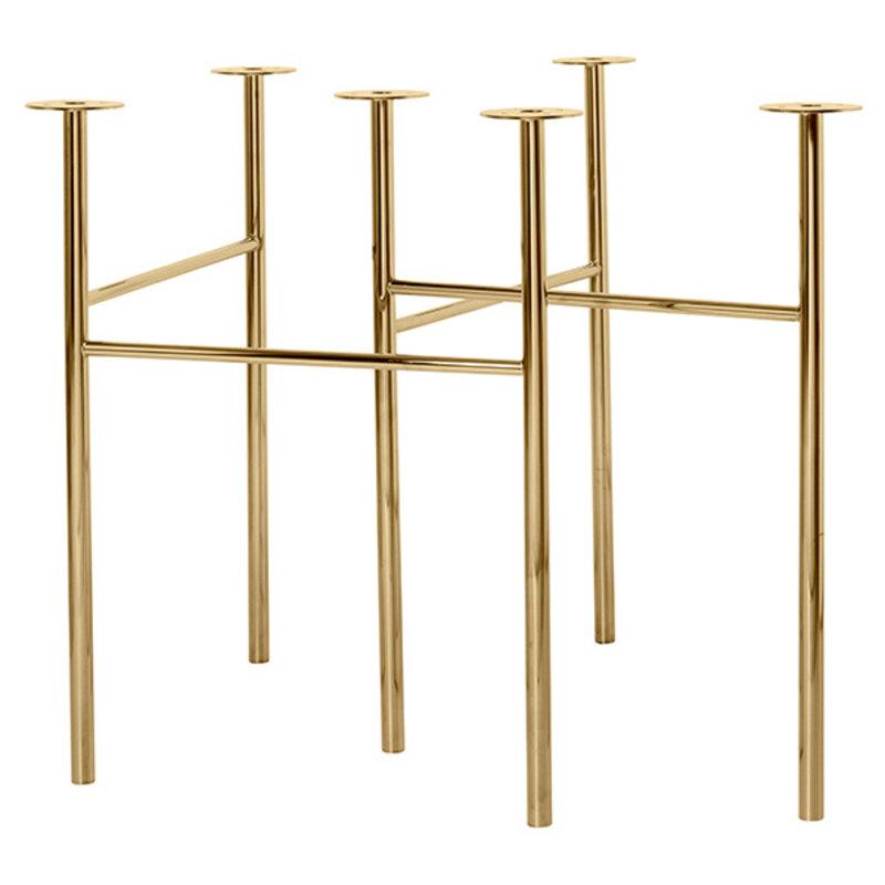 ferm LIVING-collectie Mingle tafelpoten  Brass - W68
