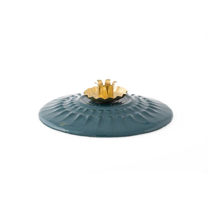 Atelier W.-collectie Candleholder 'Eternal flame' darkblue