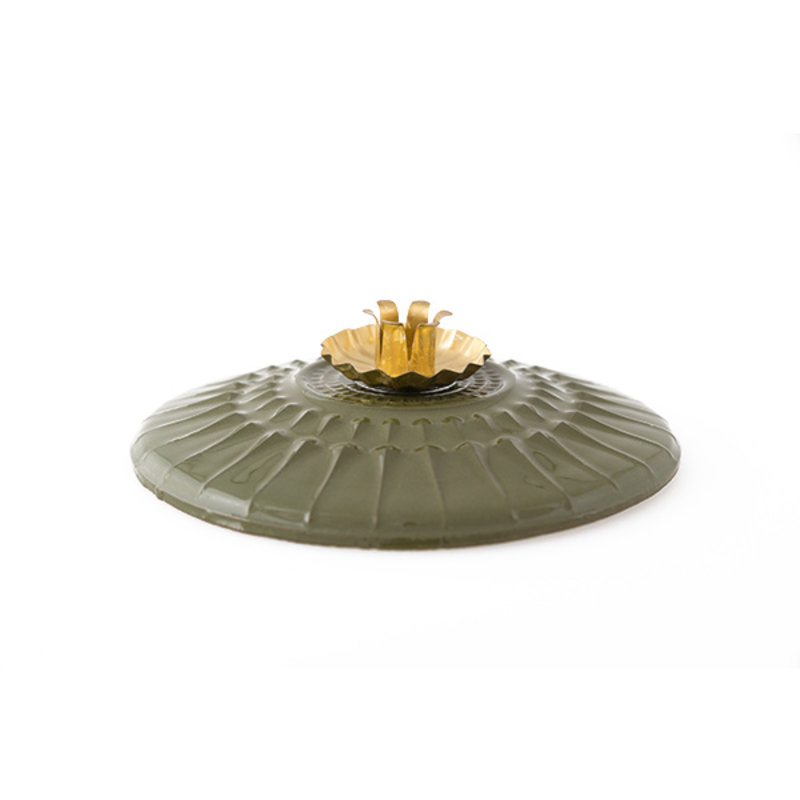 Atelier W.-collectie Candleholder 'Eternal flame' green