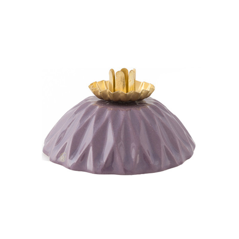Atelier W.-collectie Candleholder 'Shine bright like a diamond' purple