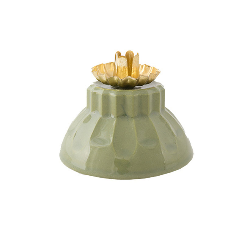 Atelier W.-collectie Candleholder 'Bowl of fire' green