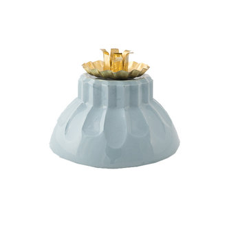 Atelier W. Candleholder 'Bowl of fire' blue
