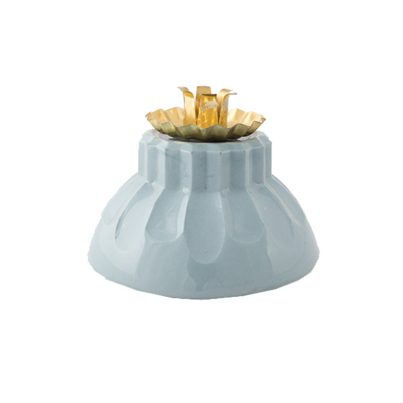 Atelier W.-collectie Candleholder 'Bowl of fire' blue
