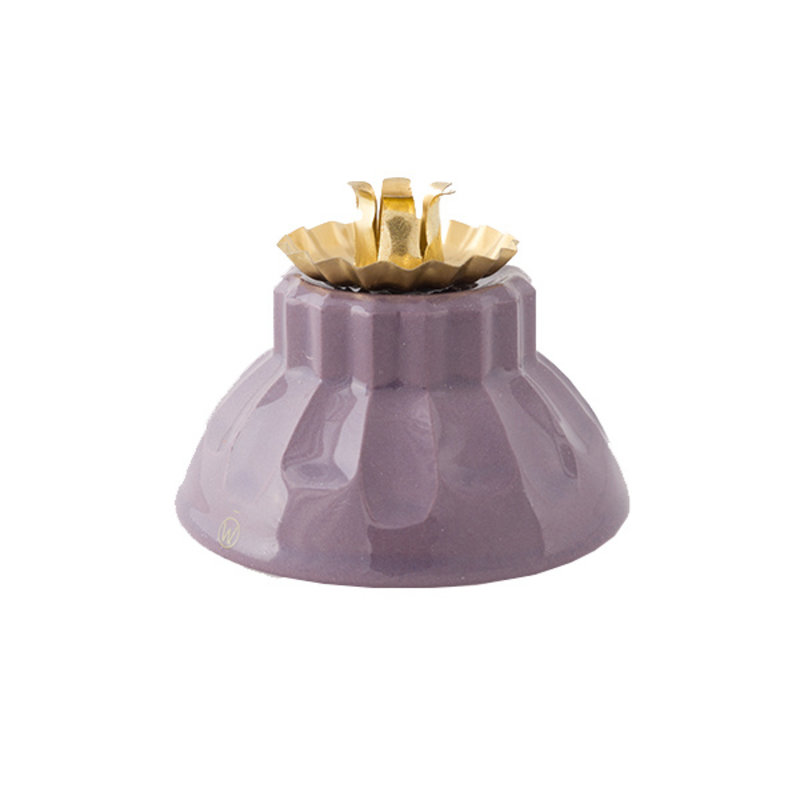 Atelier W.-collectie Candleholder 'Bowl of fire' purple