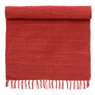 Bungalow Vloerkleed Chindi rood 60 x 90 cm