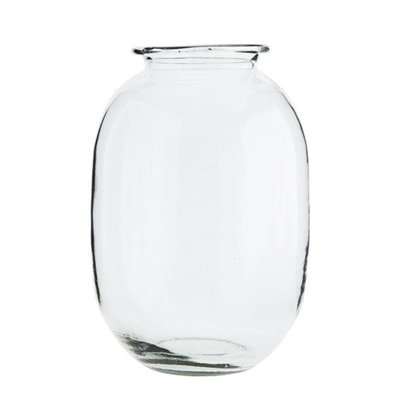 Madam Stoltz-collectie Glazen vaas 20 x 34 cm