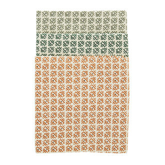 Madam Stoltz Printed kitchen towels - Ecru, sugar almond, emerald, grey
