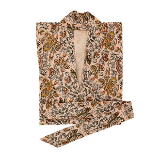 Madam Stoltz Kimono met print oudroze