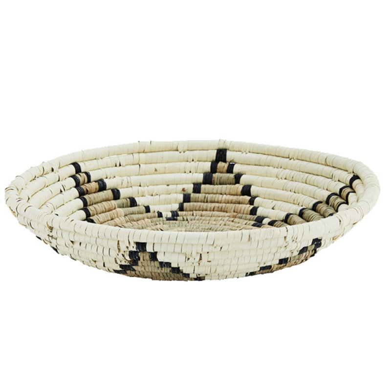 Madam Stoltz-collectie Seagrass tray - Natural, ecru, black