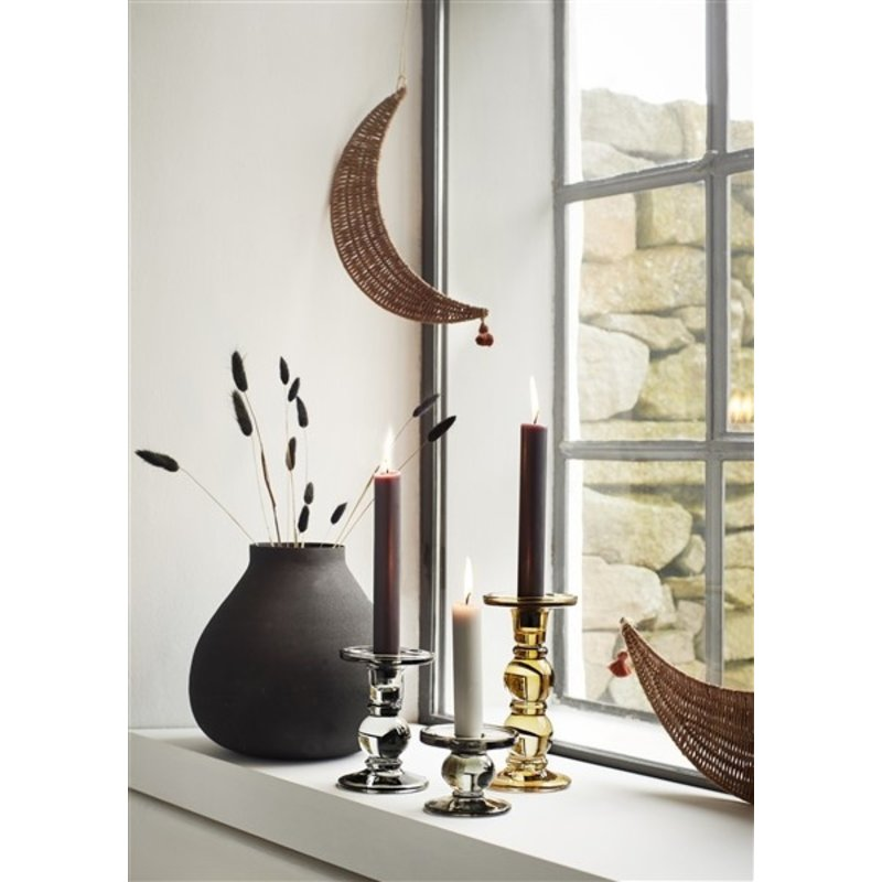 Madam Stoltz-collectie Hanging rattan moons