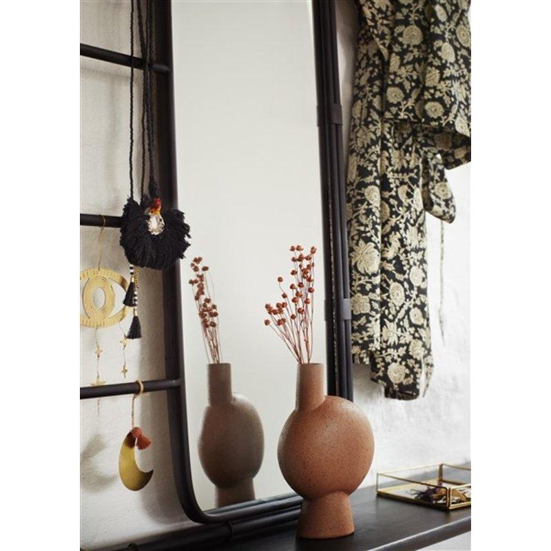 Madam Stoltz-collectie Rechthoekige spiegel met zwart frame