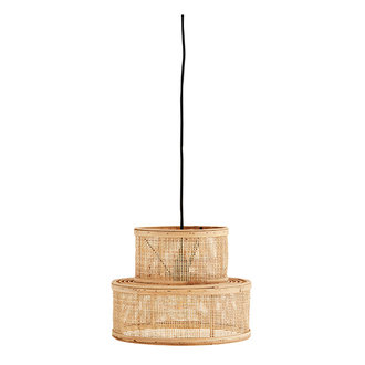 Madam Stoltz Rattan ceiling lamp - Natural, black