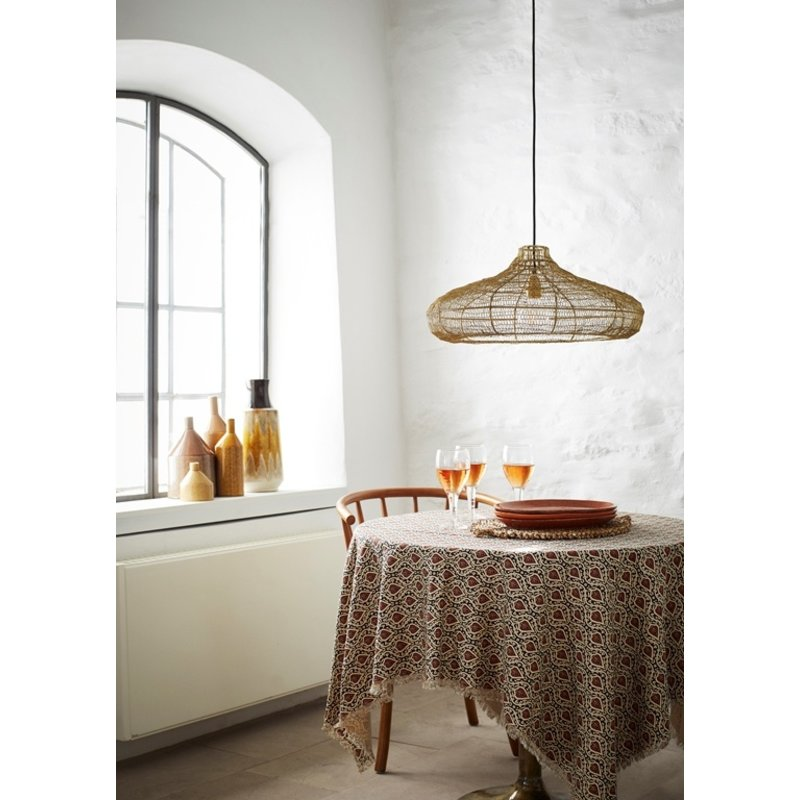 Madam Stoltz-collectie Wire ceiling lamp - Ant.brass, black