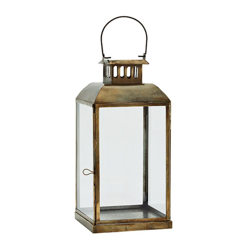 Madam Stoltz-collectie Lantern - Aged brass, clear