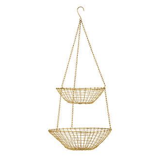 Madam Stoltz Hanging wire baskets - Ant.brass