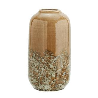 Madam Stoltz Stoneware vase - Bronze