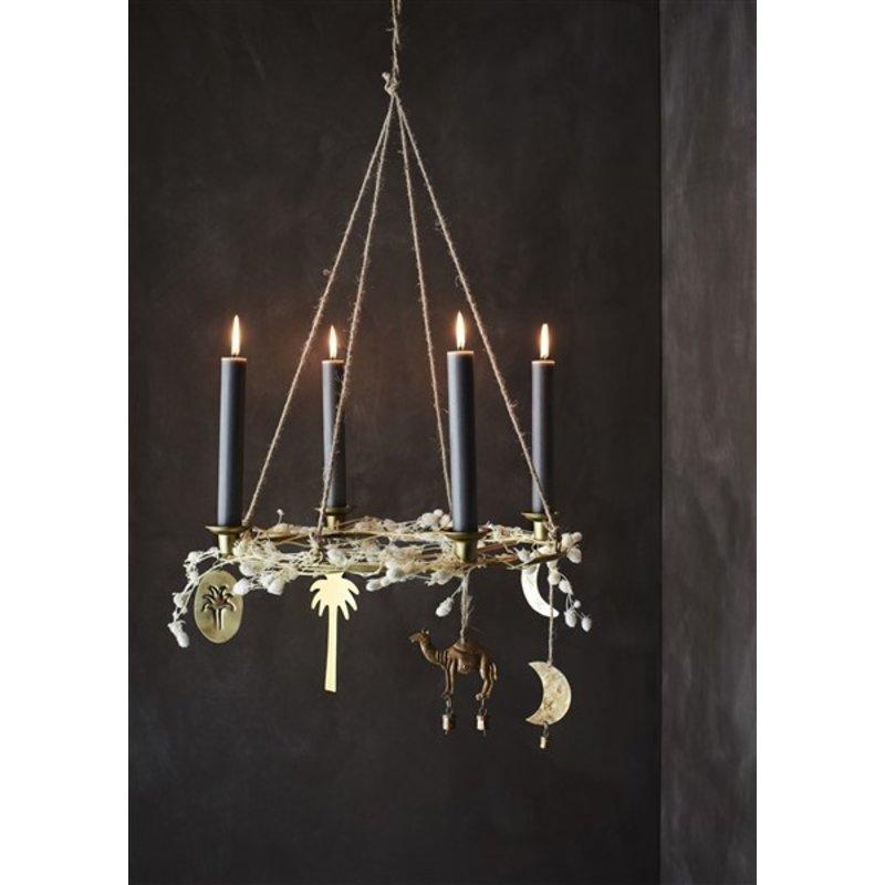 Madam Stoltz-collectie Coloured candle lights - Graphite