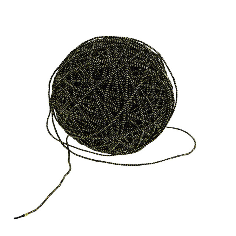 Madam Stoltz-collectie Jute cord - Black, gold