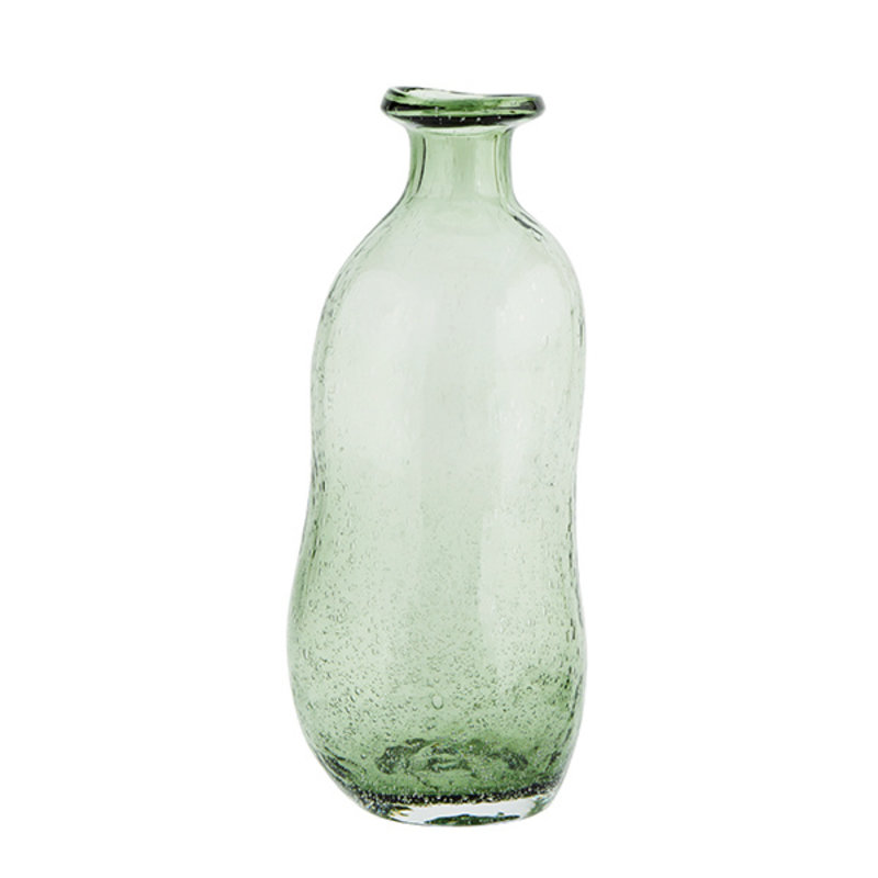 Madam Stoltz-collectie Glass vase  - Green