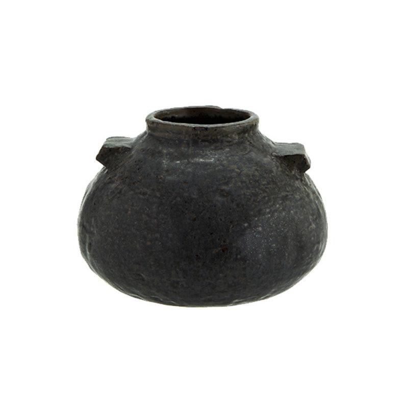 Madam Stoltz-collectie Stoneware vase - Black