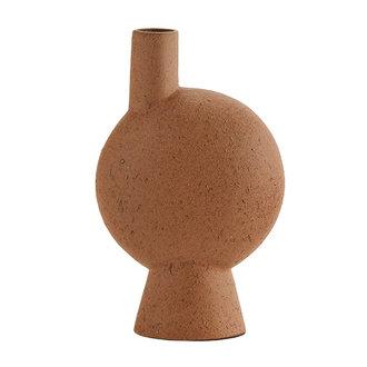 Madam Stoltz Stoneware vase - Rust