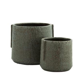 Madam Stoltz Stoneware flower pots - Liquen