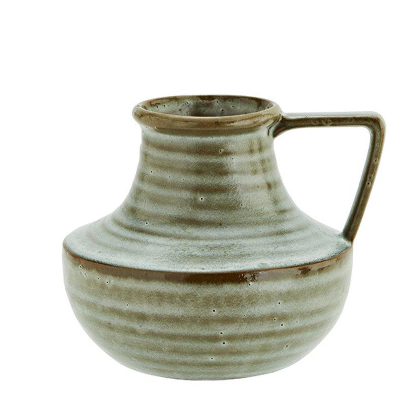 Madam Stoltz-collectie Stoneware vase - Liquen