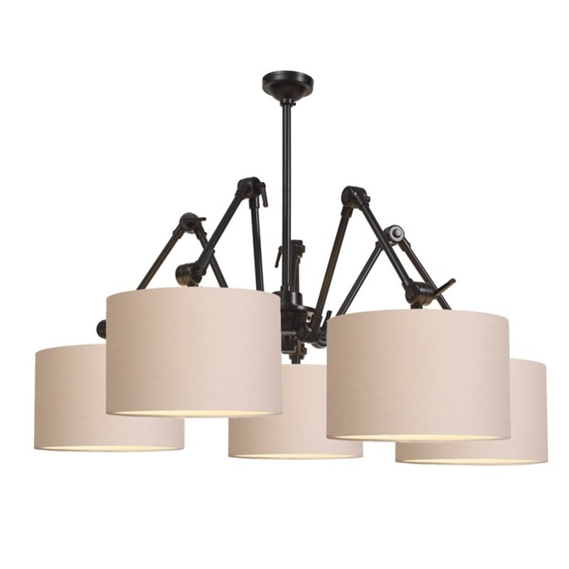 it's about RoMi-collectie Chandelier Amsterdam shade 3220, taupe