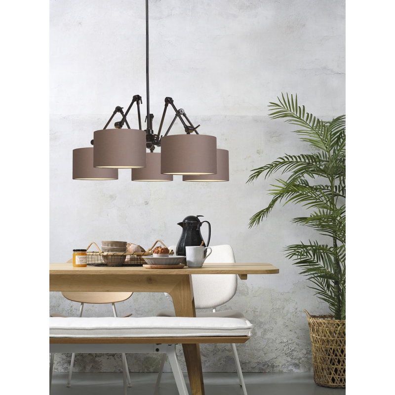 it's about RoMi-collectie Chandelier Amsterdam shade 3220, smoke grey