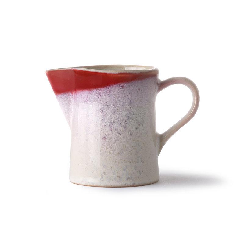HKliving-collectie Keramische jaren 70 melkkannetje en suikerpotje