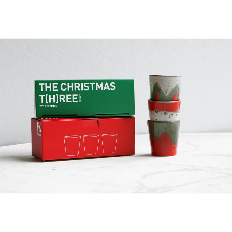HKliving-collectie Ceramic 70's mugs: the christmas t(h)ree