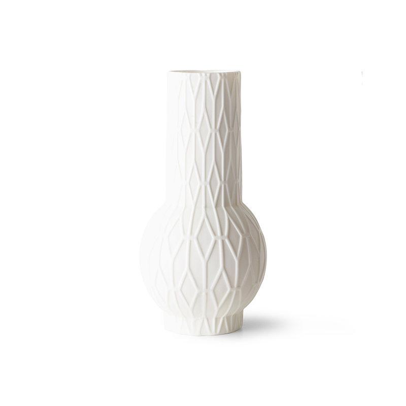 HKliving-collectie Mat witte porseleinen vazen (set van 4)