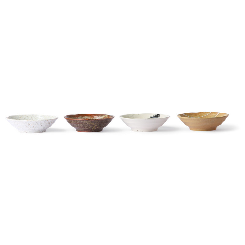 HKliving-collectie Kyoto ceramics: japanese shallow bowl (set of 4)